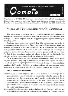 Oomoto. Jaro 26, n. 291/292 (1964)
