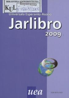 Oficiala Jarlibro / Universala Esperanto Asocio. 2009