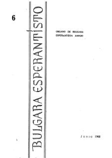 Bulgara Esperantisto.Jaro 31, n. 6 (1962)
