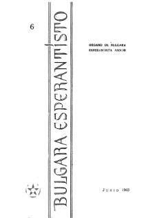 Bulgara Esperantisto. Jaro 32, n. 6 (1963)