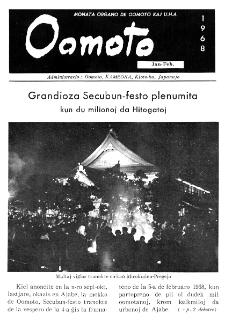 Oomoto. Jaro 44, n. 331/332 (1968)