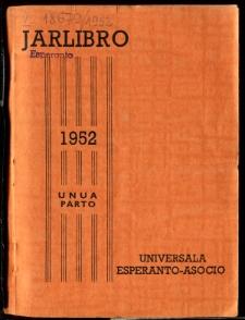 Oficiala Jarlibro / Universala Esperanto Asocio. 1952 (Unua Parto)