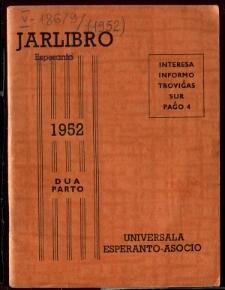 Oficiala Jarlibro / Universala Esperanto Asocio. 1952 (Dua Parto)
