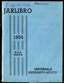 Oficiala Jarlibro / Universala Esperanto Asocio. 1954 (Dua Parto)