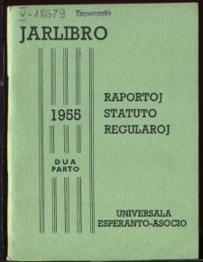 Oficiala Jarlibro / Universala Esperanto Asocio. 1955 (Dua Parto)