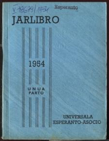 Oficiala Jarlibro / Universala Esperanto Asocio. 1954 (Unua Parto)
