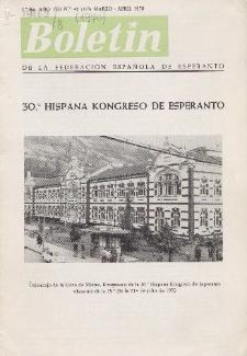 Boletín de la Federación Esperantista Española. Ep. 2, A. 8, n. 178 (1970)