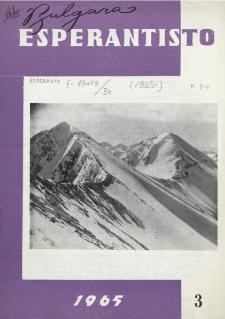 Bulgara Esperantisto. Jaro 34, n. 3 (1965)