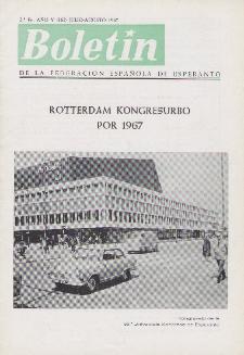 Boletín de la Federación Esperantista Española. Ep. 2, A. 5, n. 162 (1967).