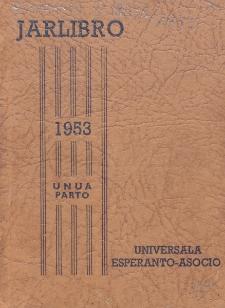 Oficiala Jarlibro / Universala Esperanto Asocio. 1953 (Unua Parto)