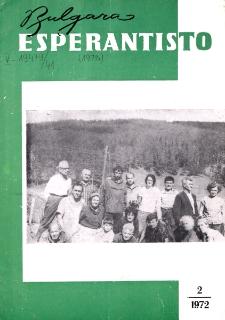 Bulgara Esperantisto. Jaro 41, n. 2 (1972)