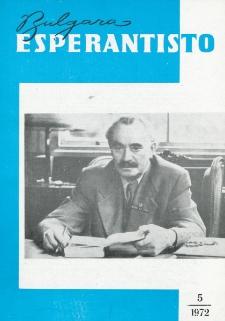 Bulgara Esperantisto. Jaro 41, n. 5 (1972)