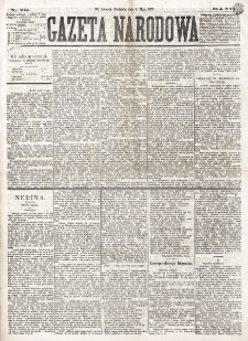 Gazeta Narodowa. R. 16 (1877), nr 104 (6 maja)