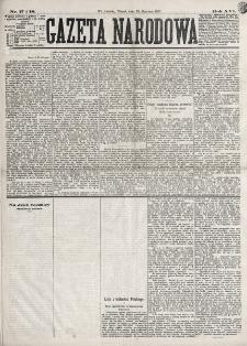 Gazeta Narodowa. R. 16 (1877), nr 17-18 (23 stycznia)