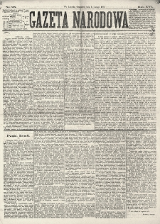 Gazeta Narodowa. R. 16 (1877), nr 25 (1 lutego)