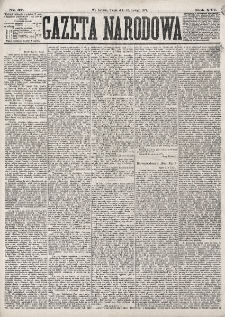 Gazeta Narodowa. R. 16 (1877), nr 37 (16 lutego)