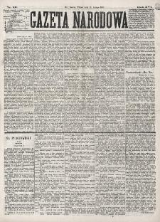 Gazeta Narodowa. R. 16 (1877), nr 40 (20 lutego)