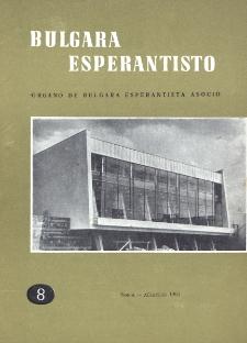 Bulgara Esperantisto.Jaro 30, n. 8 (1961)
