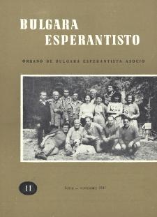 Bulgara Esperantisto.Jaro 30, n. 11 (1961)