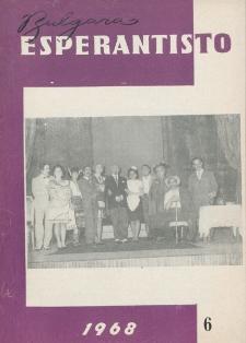 Bulgara Esperantisto.Jaro 37, n. 6 (1968)