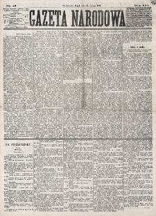 Gazeta Narodowa. R. 16 (1877), nr 43 (23 lutego)