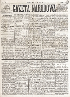 Gazeta Narodowa. R. 16 (1877), nr 71 (28 marca)