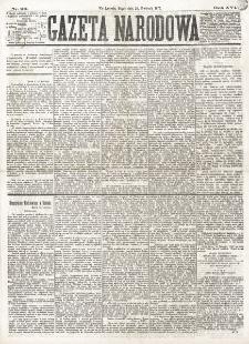 Gazeta Narodowa. R. 16 (1877), nr 90 (20 kwietnia)