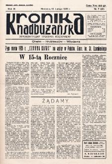 Kronika Nadbużańska : Demokratyczny Tygodnik Regionalny. R. 3, nr 7 (91) (10 lutego 1935)