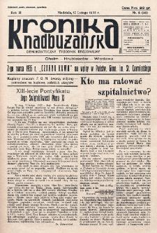 Kronika Nadbużańska : Demokratyczny Tygodnik Regionalny. R. 3, nr 8 (92) (17 lutego 1935)