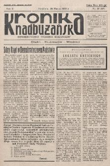 Kronika Nadbużańska : Demokratyczny Tygodnik Regionalny. R. 3, nr 13 (97) (24 marca 1935).