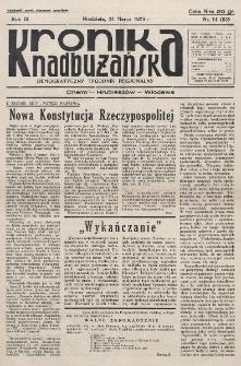 Kronika Nadbużańska : Demokratyczny Tygodnik Regionalny. R. 3, nr 14 (98) (31 marca 1935)