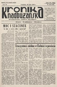 Kronika Nadbużańska : Demokratyczny Tygodnik Regionalny. R. 3, nr 22 (106) (25 maja 1935)