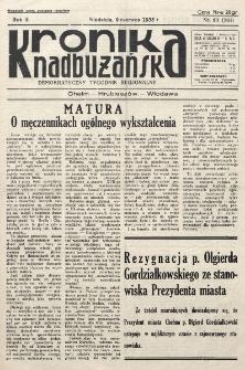 Kronika Nadbużańska : Demokratyczny Tygodnik Regionalny. R. 3, nr 23 (107) (9 czerwca 1935)