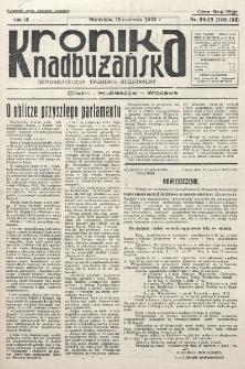 Kronika Nadbużańska : Demokratyczny Tygodnik Regionalny. R. 3, nr 24/ 25 (108/109) (16 czerwca 1935)