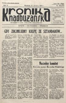 Kronika Nadbużańska : Demokratyczny Tygodnik Regionalny. R. 3, nr 26 (110) (23 czerwca 1935)
