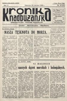 Kronika Nadbużańska : Demokratyczny Tygodnik Regionalny. R. 3, nr 27 (111) (30 czerwca 1935)
