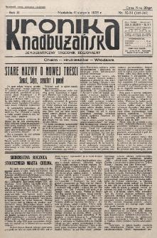 Kronika Nadbużańska : Demokratyczny Tygodnik Regionalny. R. 3, nr 32/33 (116/117) (11 sierpnia 1935)