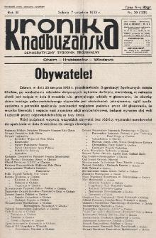 Kronika Nadbużańska : Demokratyczny Tygodnik Regionalny. R. 3, nr 36 (120) (7 września 1935)