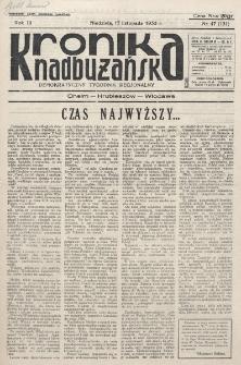 Kronika Nadbużańska : Demokratyczny Tygodnik Regionalny. R. 3, nr 47 (131) (17 listopada 1935)