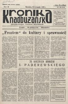 Kronika Nadbużańska : Demokratyczny Tygodnik Regionalny. R. 3, nr 48 (132) (24 listopada 1935)