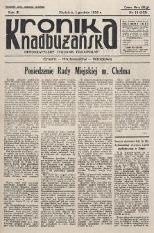 Kronika Nadbużańska : Demokratyczny Tygodnik Regionalny. R. 3, nr 49 (133) (1 grudnia 1935)