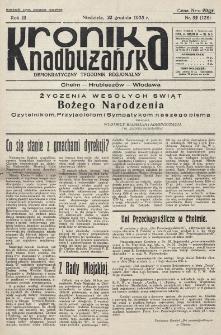 Kronika Nadbużańska : Demokratyczny Tygodnik Regionalny. R. 3, nr 52 (136) (22 grudnia 1935)