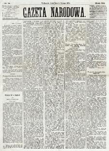 Gazeta Narodowa. R. 12, nr 6 (8 stycznia 1873)