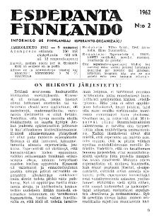 Esparanta Finlando. No. 2 (1962)