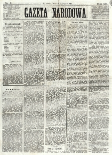 Gazeta Narodowa. R. 12, nr 7 (8 stycznia 1873)