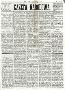 Gazeta Narodowa. R. 12, nr 8 (9 stycznia 1873)