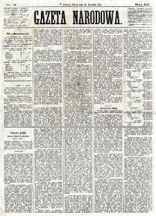 Gazeta Narodowa. R. 12, nr 9 (10 stycznia 1873)