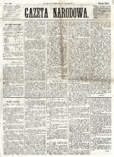Gazeta Narodowa. R. 12, nr 10 (11 stycznia 1873)