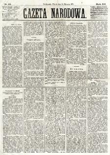 Gazeta Narodowa. R. 12, nr 12 (14 stycznia 1873)