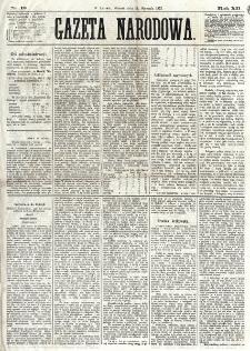 Gazeta Narodowa. R. 12, nr 13 (14 stycznia 1873)